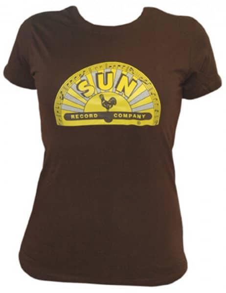 Girlie Shirt (S) Half Logo Brown - Yellow