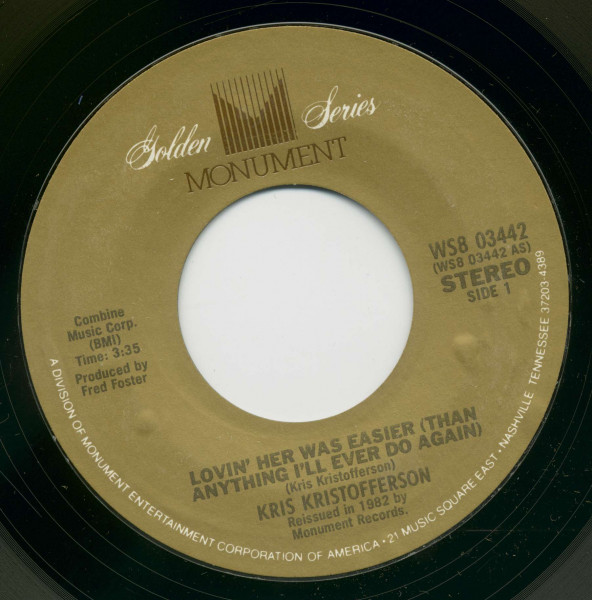 Lovin' Her Was Easier - Me And Bobby McGee (7inch, 45rpm, BC)