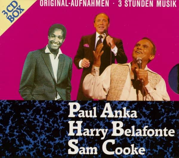 Paul Anka - Harry Belafonte - Sam Cooke (3-CD)