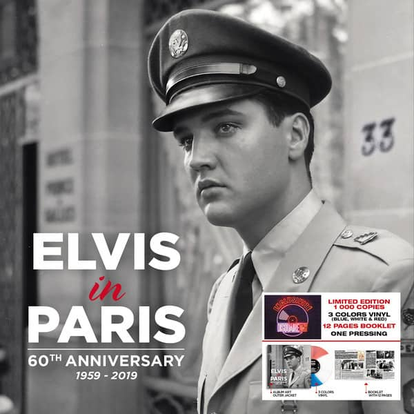 Elvis In Paris - 60th Anniversary (LP, Blue, White & Red Vinyl, Ltd.)