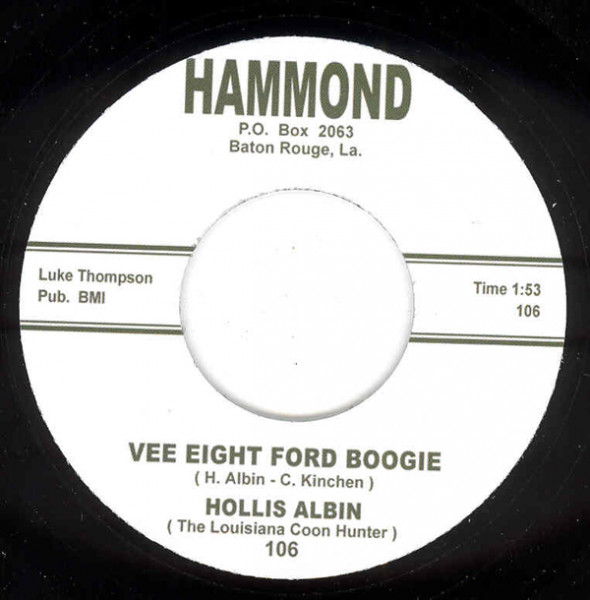 Vee Eight Ford Boogie - Uncle Earl Don't 7inch, 45rpm