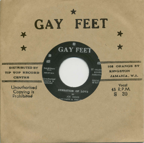 Joe Higgs, Sensation Of Love / The Valentines, Sock It To Me (7inch, 45rpm, BC, CS)