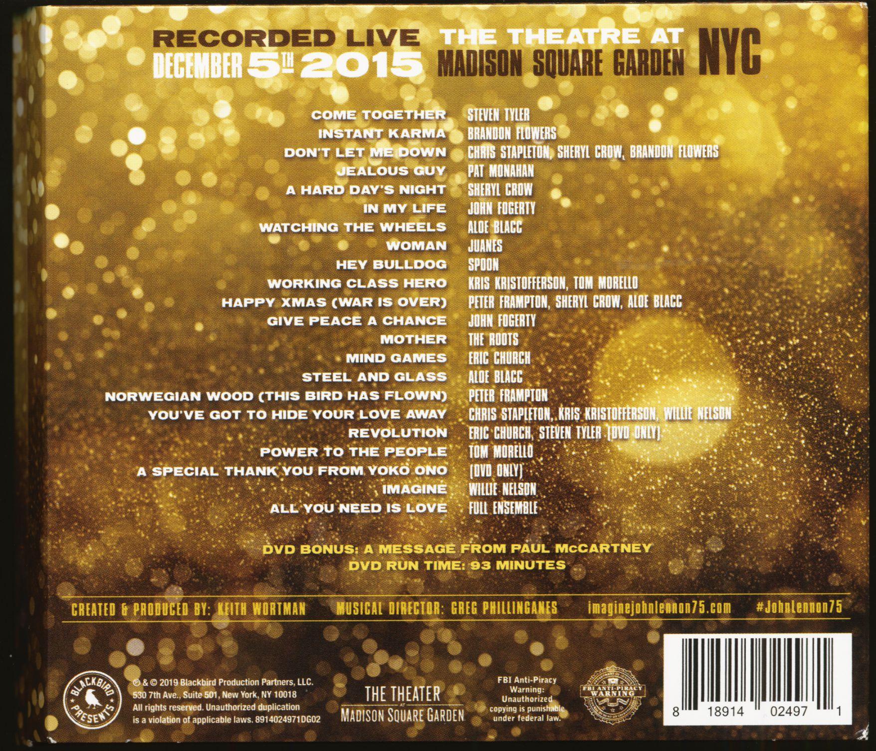 Various Cd Imagine John Lennon 75th Birthday Concert 2