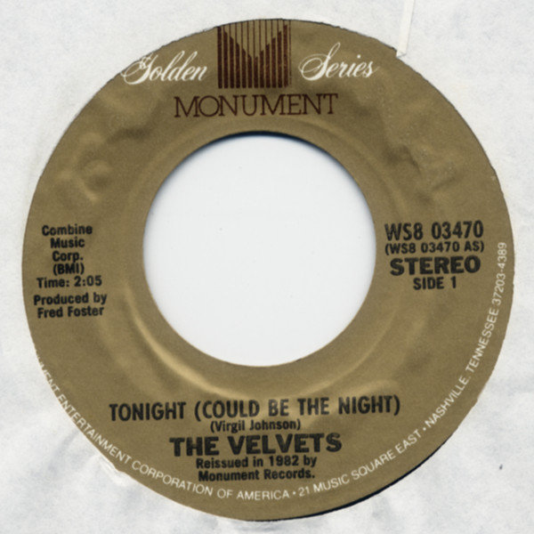 Tonight (Could Be The Night) b-w That Lucky Old Sun 7inch, 45rpm