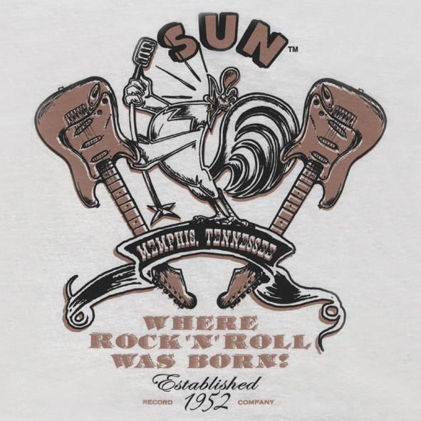 SUN RECORDS Sun Rooster w.Guitars (XL) White
