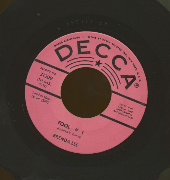 Fool No. 1 b-w Anybody But Me (7inch, 45rpm)