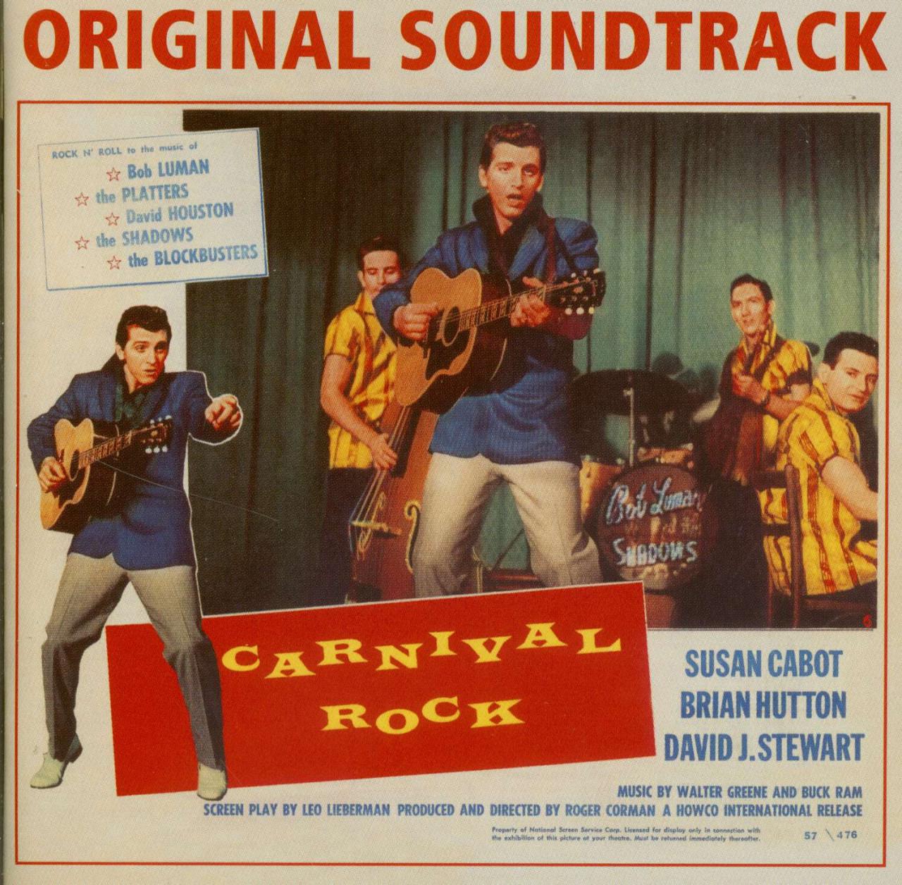 Bob Luman & Others CD: Carnival Rock - Original 1957 Soundtrack ...