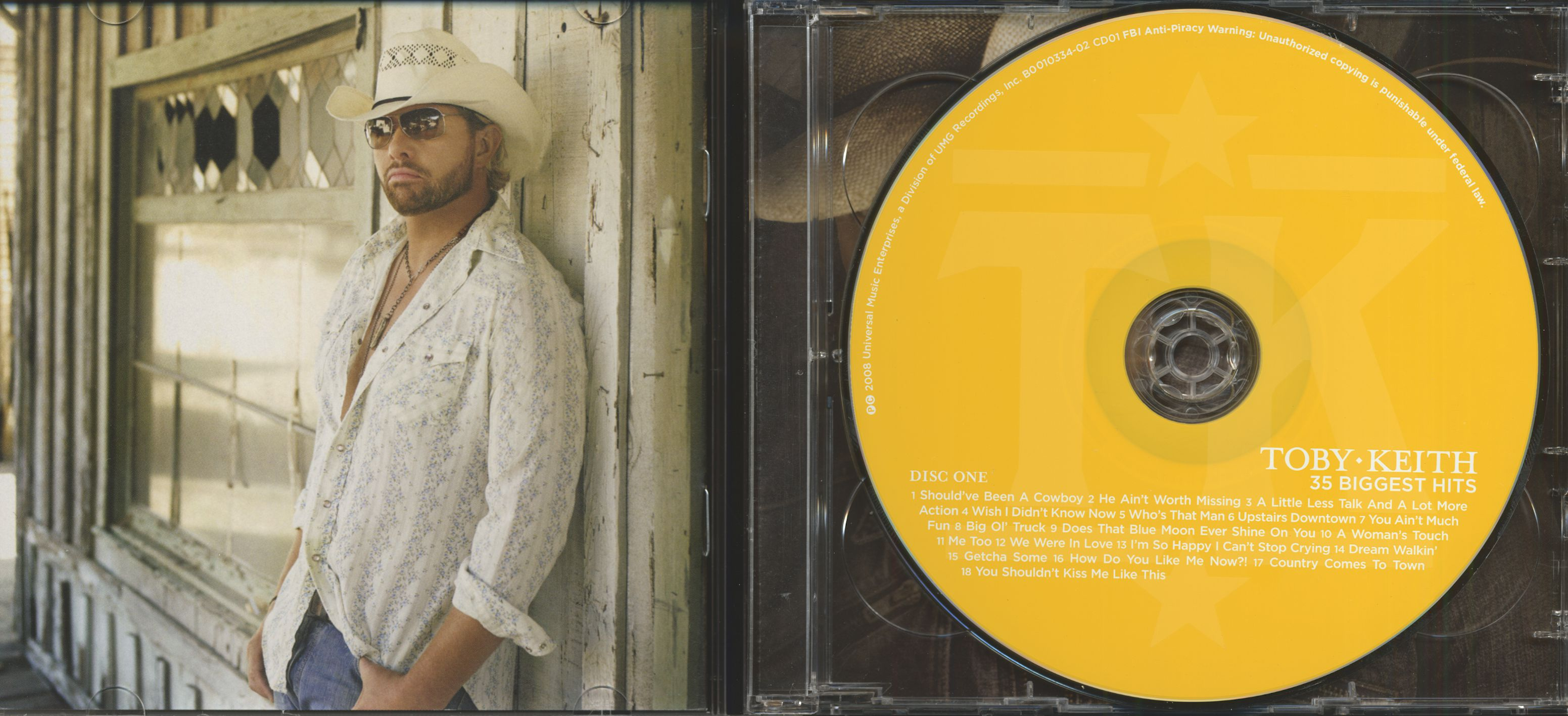toby keith cd 35 biggest hits 2 cd bear family records