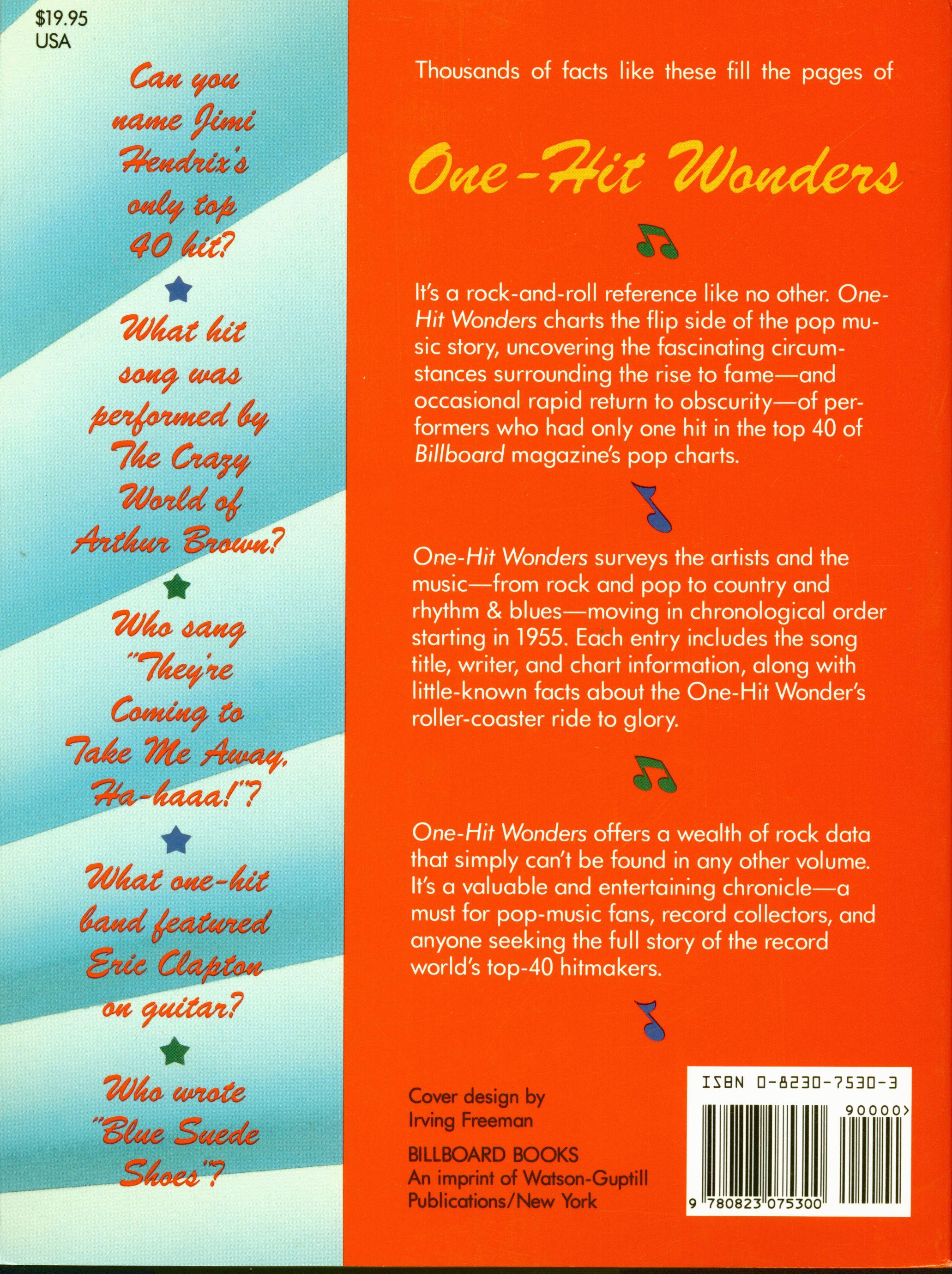One Hit Wonders Bucher Books The Billboard Book Of One Hit Wonders