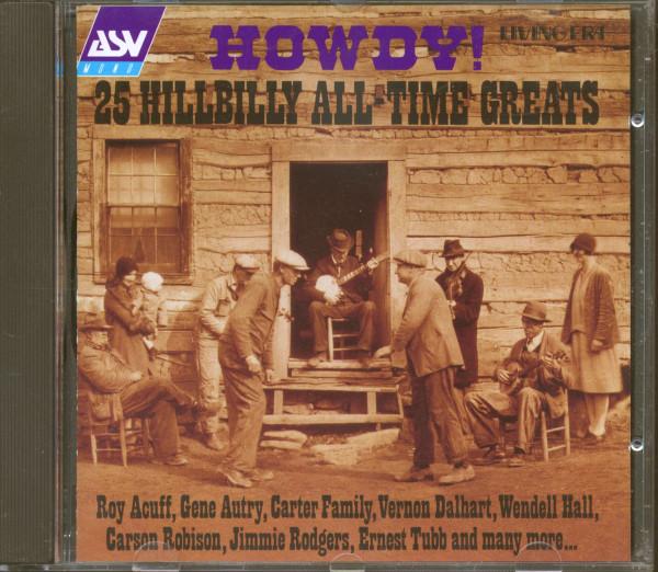 Howdy! 25 Hillbilly All-Time Greats (CD)
