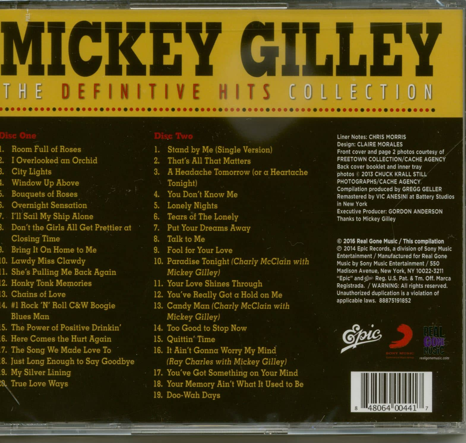 be0ebb3486308 Mickey Gilley CD  The Definitive Hits Collection (2-CD) - Bear ...