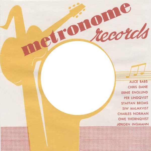 (50) Metronome 2 - 45rpm record sleeve - 7inch Single Cover