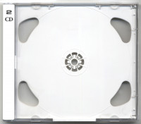 CD case with white tray four 2 CDs