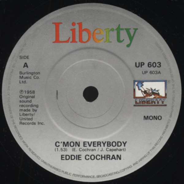 C'mon Everybody - Don't Ever Let Me Go 7inch, 45rpm, SC