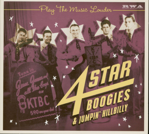 Play The Music Louder - 4 Star Boogies & Jumpin' Hillbilly (CD)