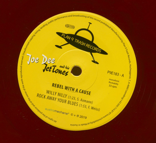 Rebel With A Cause (7inch, EP, 33rpm, SC, Red Vinyl)