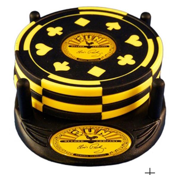 Elvis Signature Gambler Coaster Set