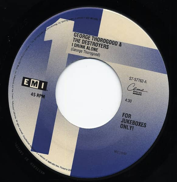 I Drink Alone - Bad To The Bone 7inch, 45rpm