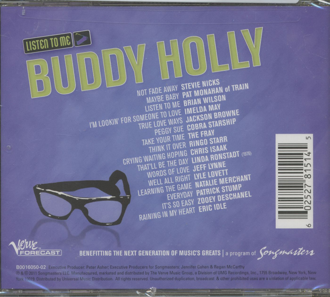 Various Cd Listen To Me Buddy Holly Tribute Cd