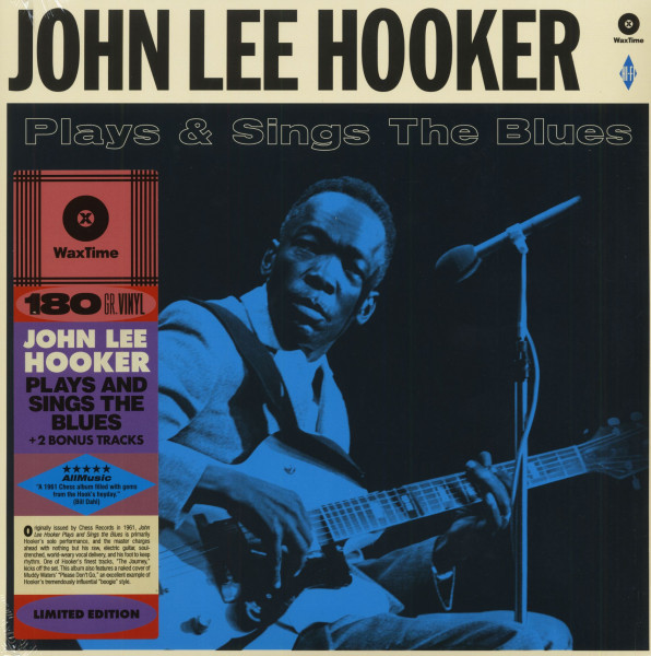 John Lee Hooker Plays & Sing The Blues (LP, 180g Vinyl, Ltd.)