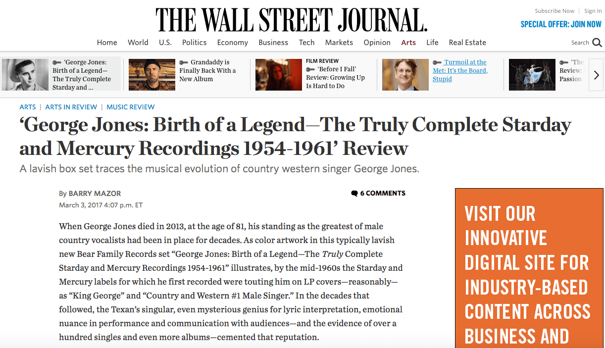 Press - George Jones - Birth Of A Legend - The Truly Complete ...