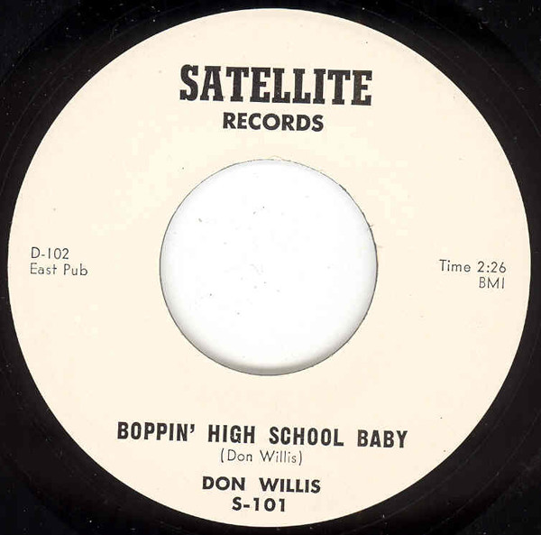 Boppin' High School Baby - Warrior Sam (7inch, 45rpm, 2nd pressing)