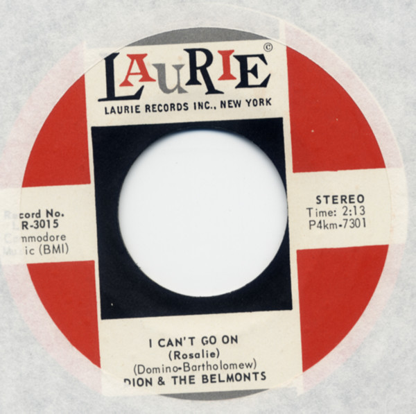I Can't Go On b-w No One Knows 7inch, 45rpm