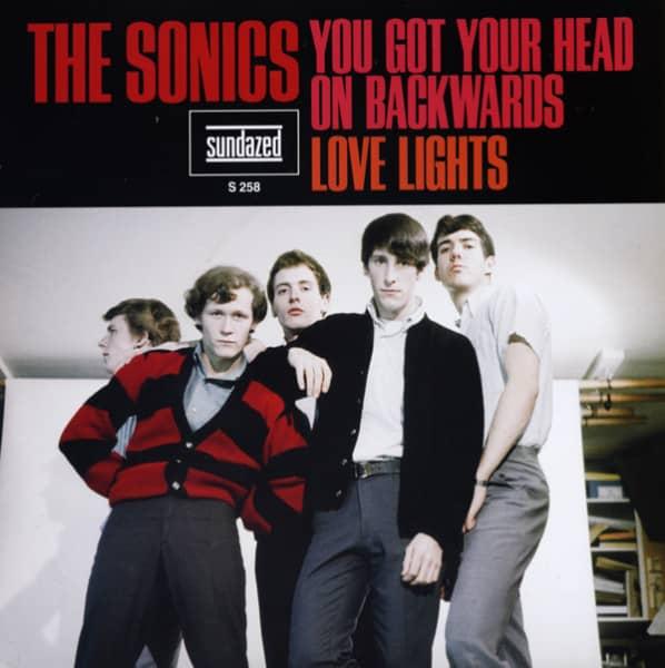 You Got Your Head On Backwards b-w Love Lights 7inch, 45rpm, PS, ltd, - blue wax