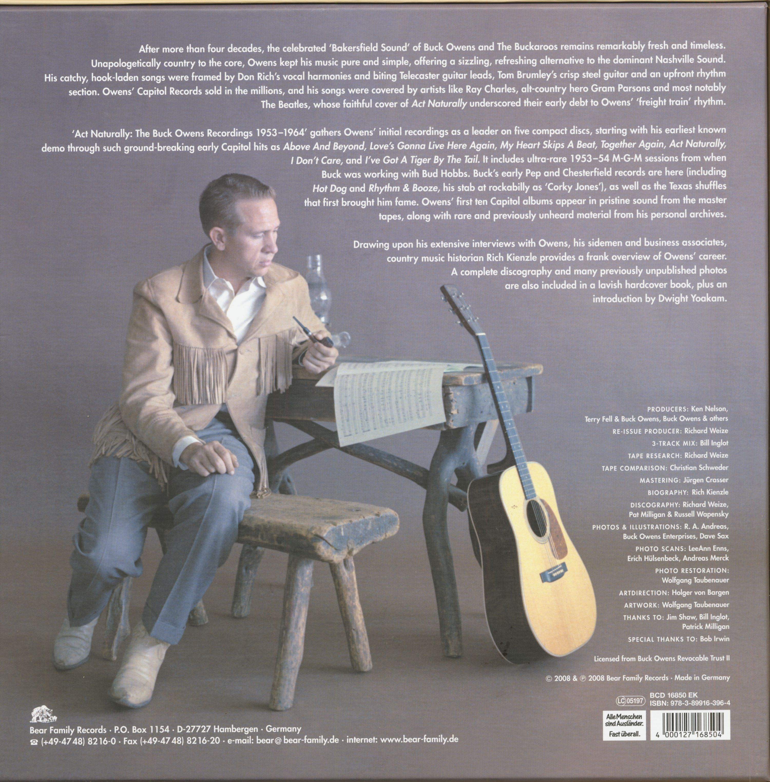 Buck Owens Box Set Act Naturally 5 CD