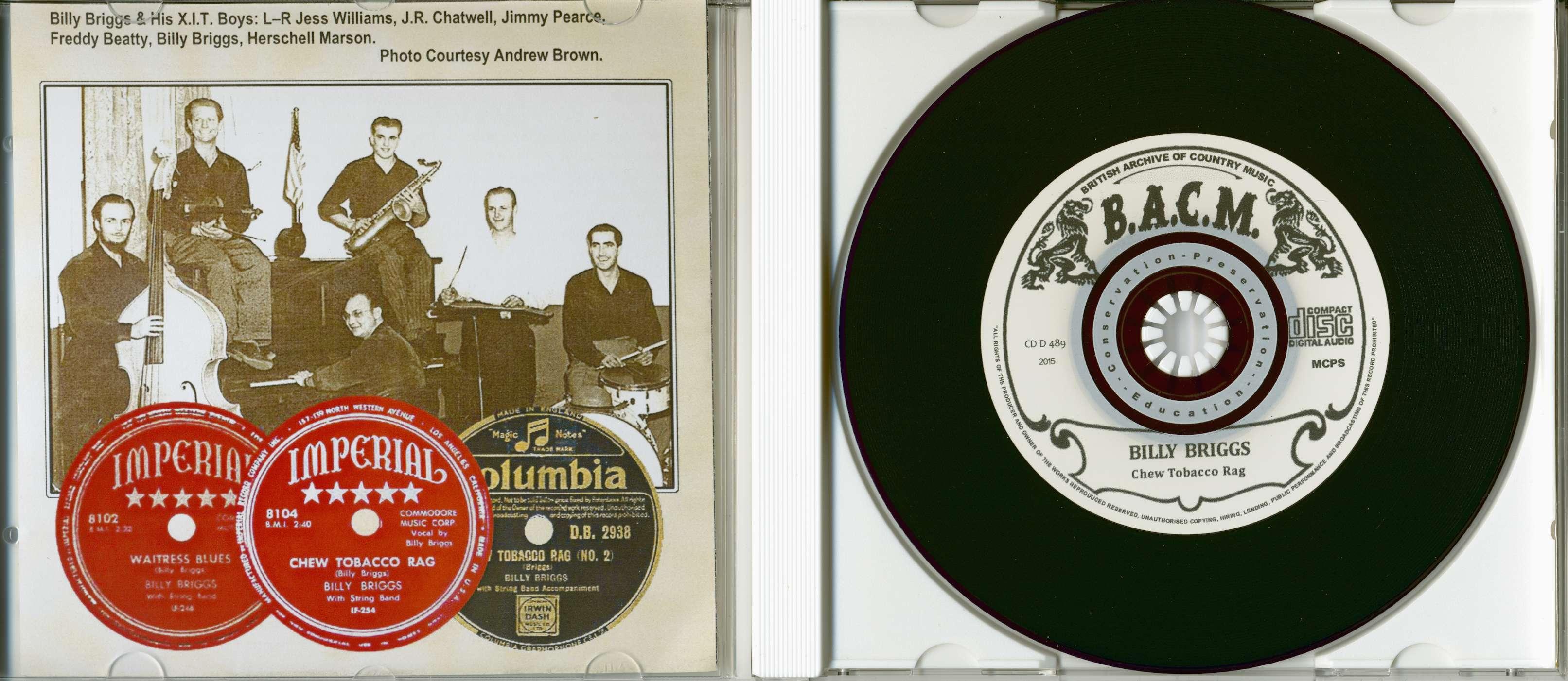Billy Briggs CD: Chew Tobacco Rag - Bear Family Records
