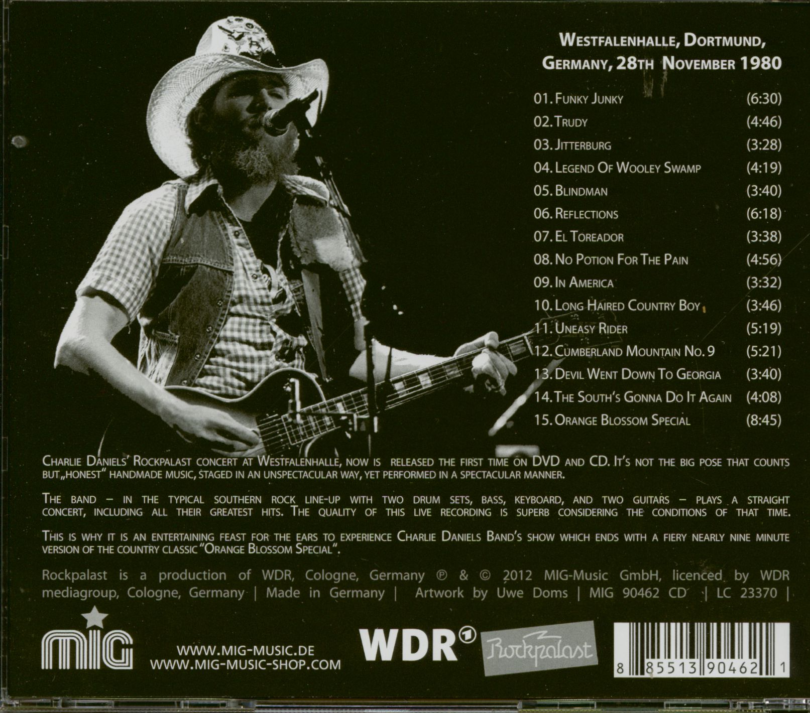 Charlie Daniels Live At Rockpalast (CD)