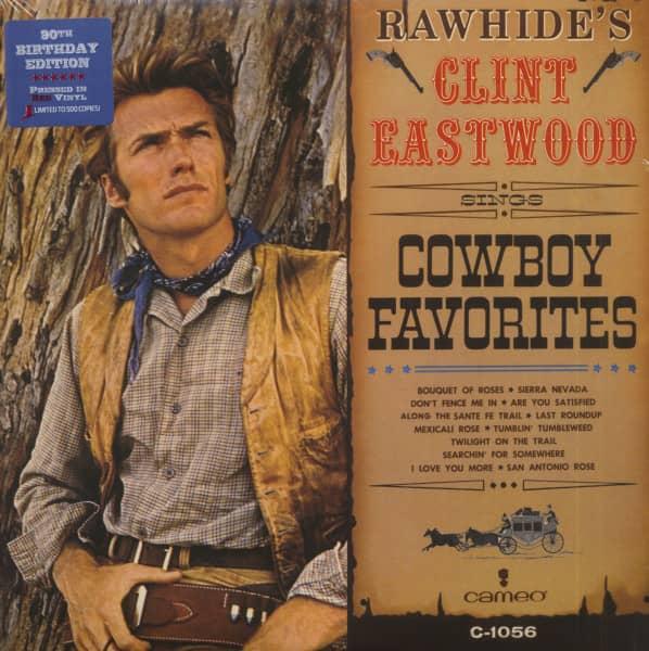 Rawhide's Clint Eastwood - Sings Cowboy Favorites (LP, Red Vinyl, Ltd.)