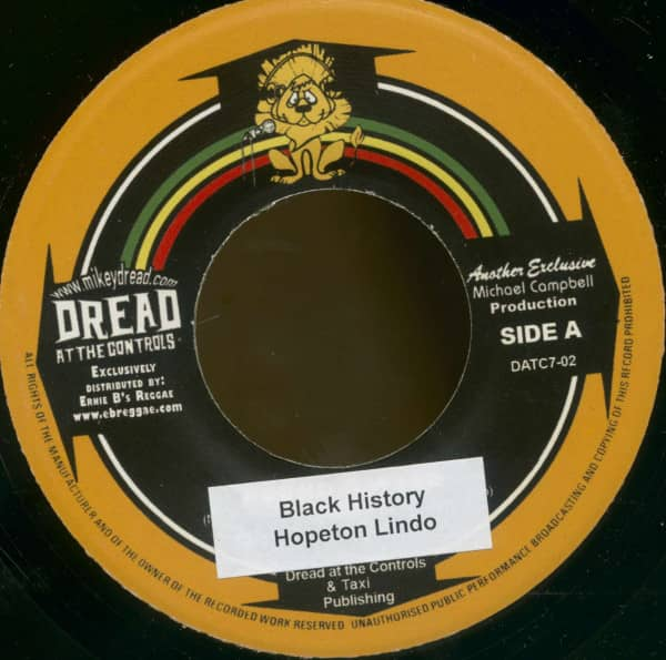 Hopeton Lindo - Mikey Dread & King Jammy (7inch, 45rpm, BC)