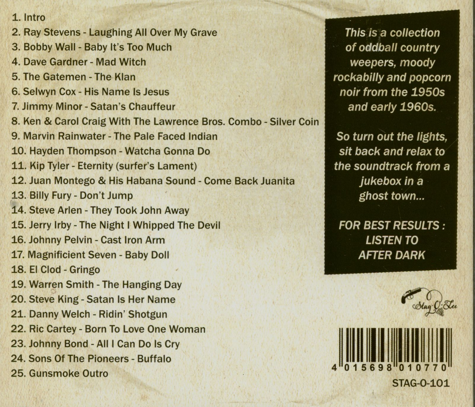 Various Gunsmoke Vol 1 & 2 - Dark Tales Of Western Noir (CD)