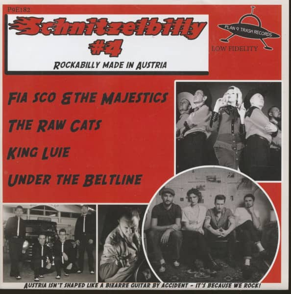 Schnitzelbilly No.4 - Rockabilly Made In Austria (7inch, EP, 33rpm, PS, SC, White Vinyl)
