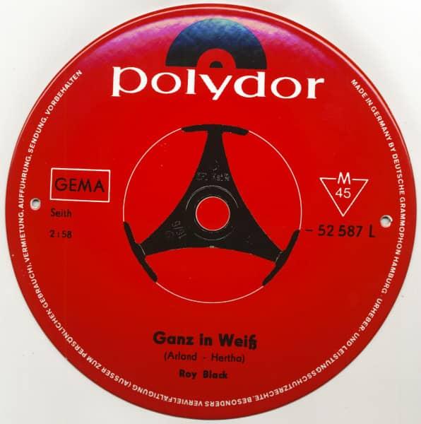 Ganz in Weiß - Polydor (Emailleschild 25cm - 10inch)
