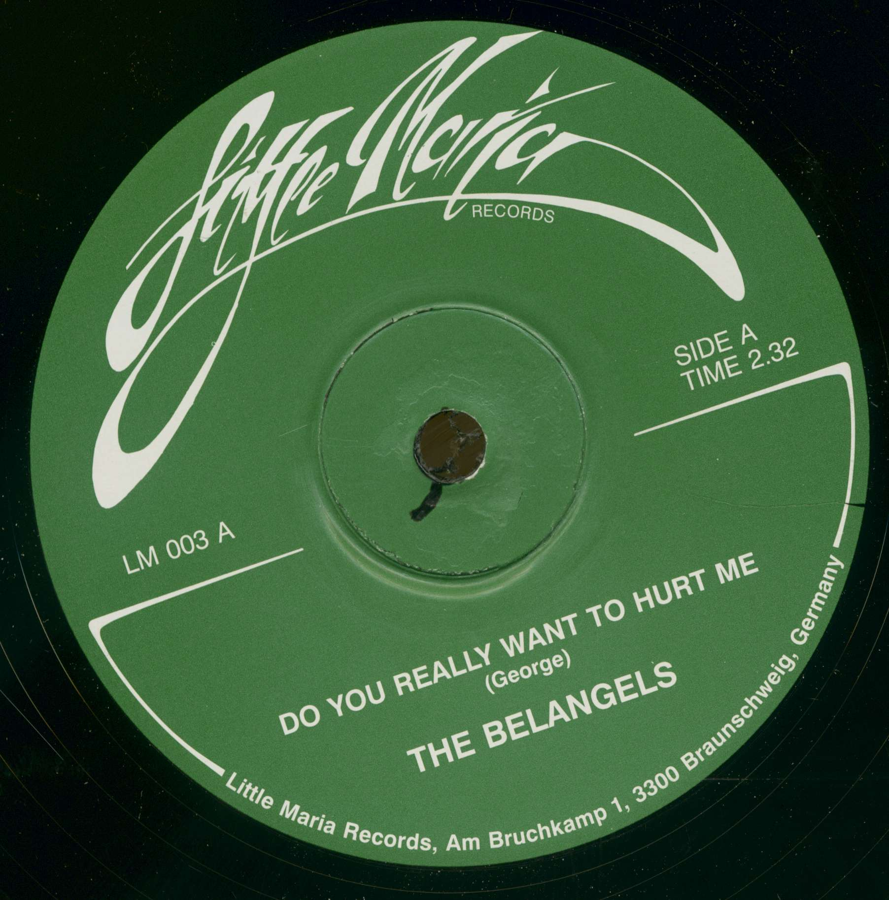 Belangels 7inch Do You Really Want To Hurt Me Streetcorner