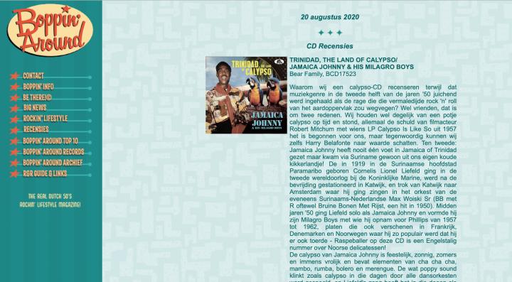 Press-Archive-Jamaica-Johnny-His-Milagro-Boys-Trinidad-The-Land-Of-Calypso-Boppin-Around