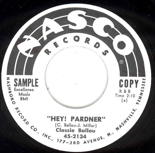 Hey Pardner b-w Crazy Mambo (Nasco) 7inch, 45rpm