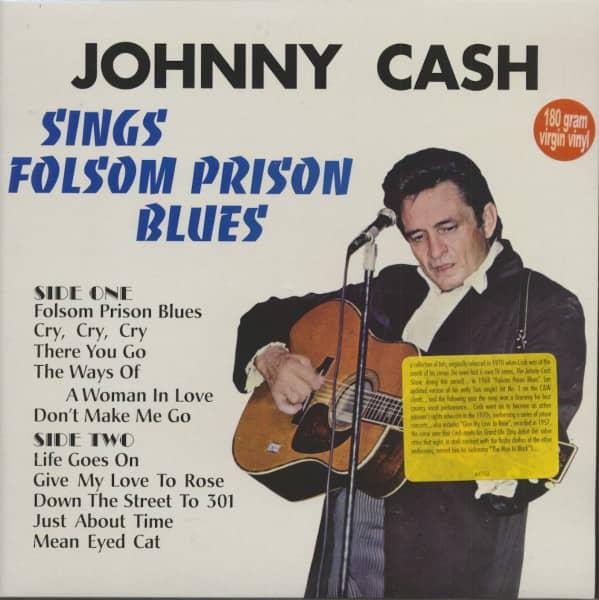 Johnny Cash Sings Folsom Prison Blues (LP, 180g Vinyl)