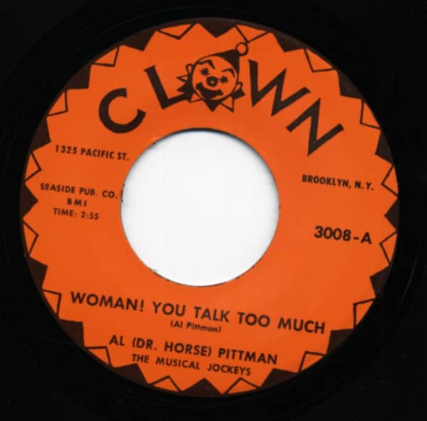 Woman You Talk Too Much b-w Crazy Beat 7inch, 45rpm