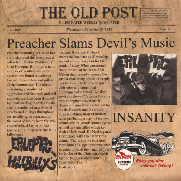 Insanity (LP, 180g Colored Vinyl, Ltd.)