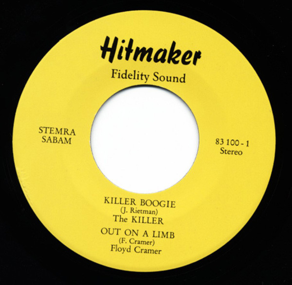 Hitmaker Fidelty Sound-Killer Boogie 7inch, 45rpm, EP