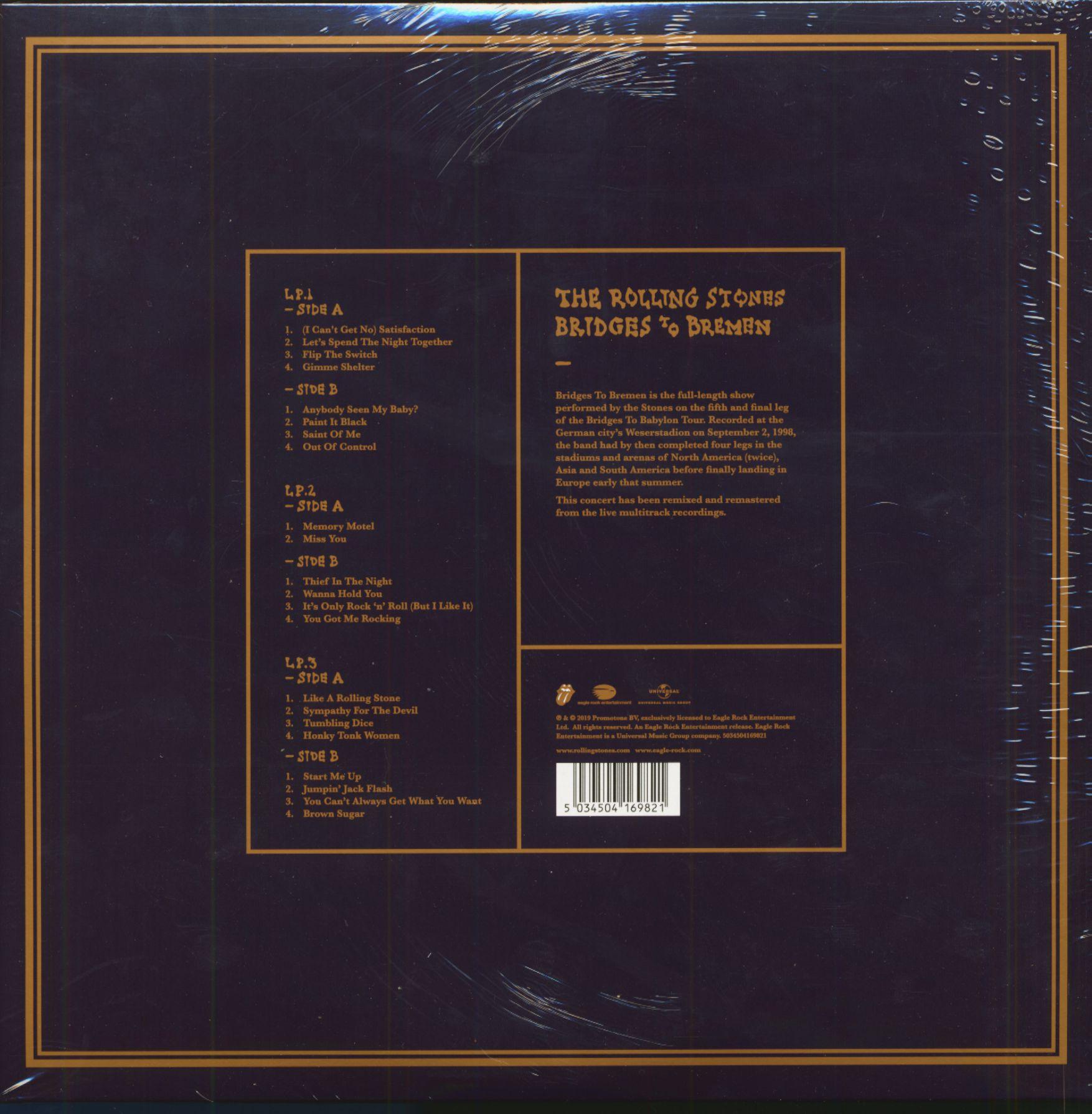 The Rolling Stones Bridges To Bremen (3-LP, 180g Vinyl)