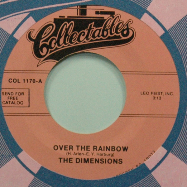 Over The Rainbow b-w Zing! Went The Strings Of My Heart 7inch, 45rpm