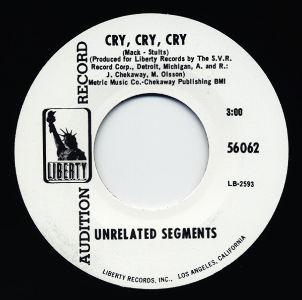 Cry, Cry, Cry - It's Not Fair 7inch, 45rpm