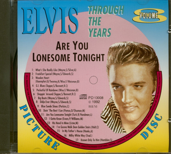 Through The Years Vol.8 - Are You Lonesome Tonight (CD)
