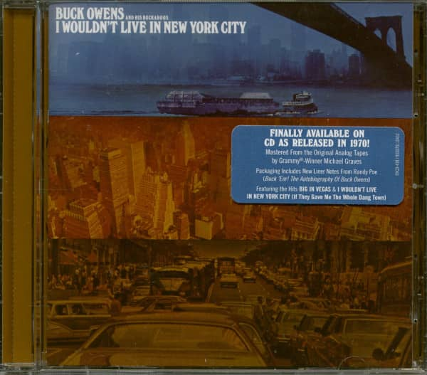 I Wouldn't Live In New York City (CD)