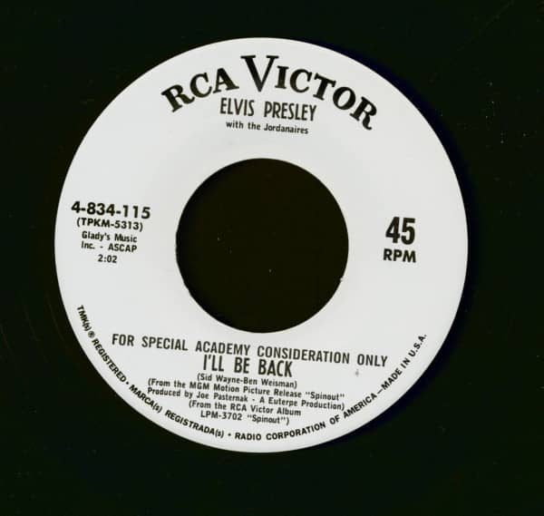 I'll Be Back (7inch, 45rpm, one sided promo re-issue)