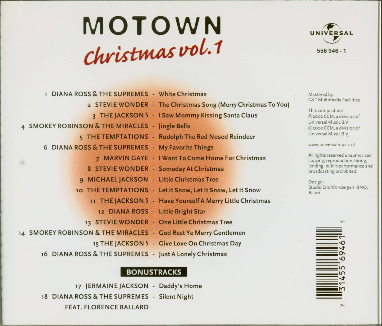 Motown Christmas Music.Various Motown Christmas Vol 1 Cd